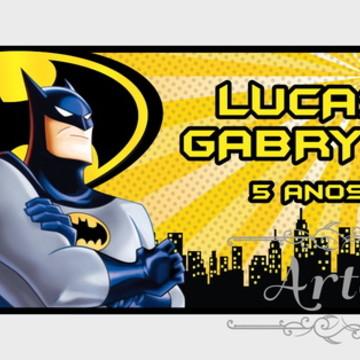 Adesivo Rótulo para Cofrinho Lembrancinha Batman