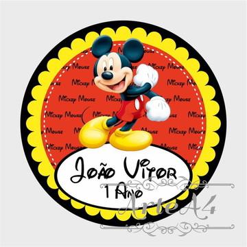 Adesivo Rótulo p/ Latinha Lembrancinha Mickey