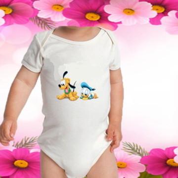 BODY BEBE INFANTIL BLUTO E PATO DONALD C/ 1