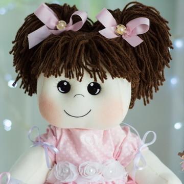 Boneca de Pano Bebê sem Chupeta