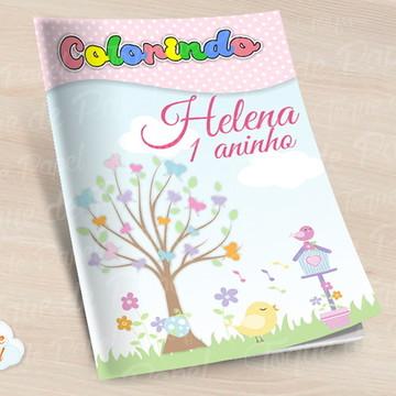 Revista colorir Jardim dos Passarinhos