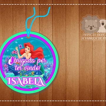 Tag Redonda Ariel Pequena Sereia