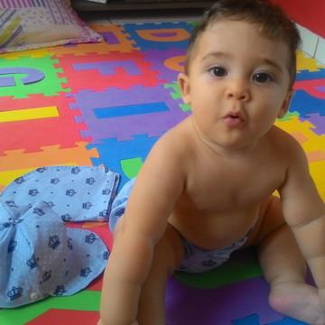 Kit Praia bebê coroa menino Com Protetor de Orelha