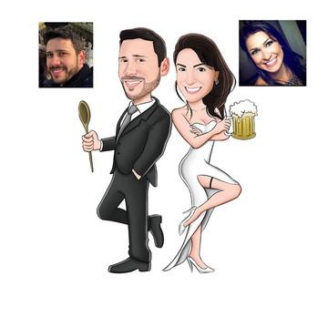 Caricatura Casamento