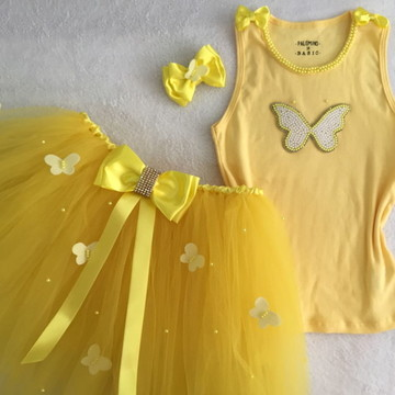 Fantasia de borboleta amarela borboletas