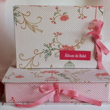 Álbum do bebê com Caixa - Gaiola e Jardim