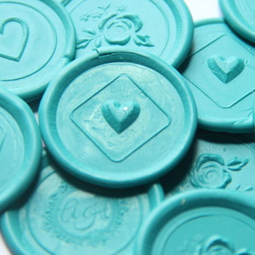 Lacre de cera / Azul Tiffany