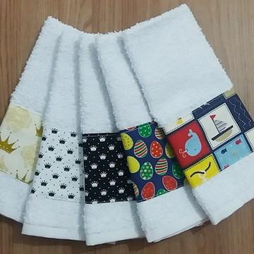 Kit 5 toalhinhas escolares com barrinha