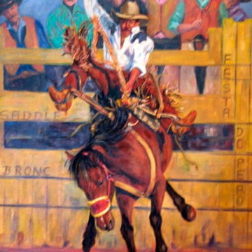Cena de Rodeio, Sela Americana