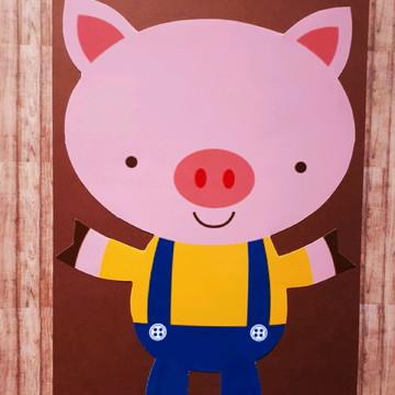 Arte para quadro - 3 Porquinhos