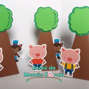 Caixa Cone - 3 Porquinhos