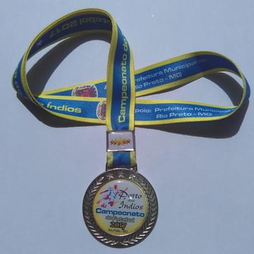 Medalha em Metal de 5cm, Prata, ouro ou bronze.