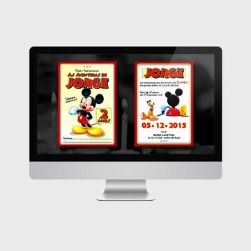 Convite Mickey PARA IMPRIMIR