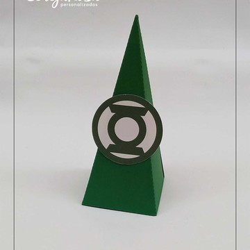 Caixa Cone Lanterna Verde