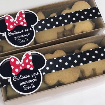 Caixas com Biscoito Tema Minnie e Mickey