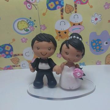 mini casal de noivinhos