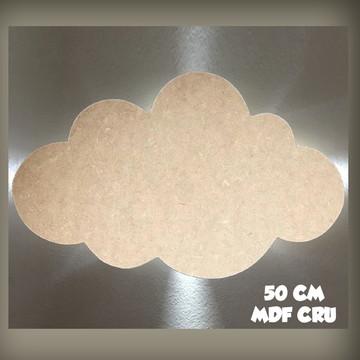 Nuvem Decorativa MDF cru (50 cm)