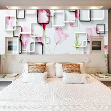 Adesivo para cabeceira de cama 3d flor