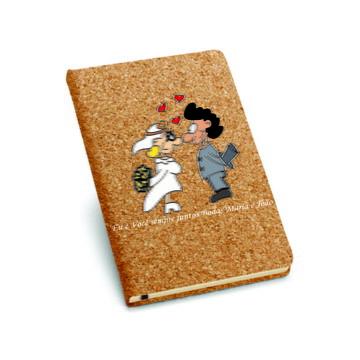Caderno capa dura em cortiça 93720