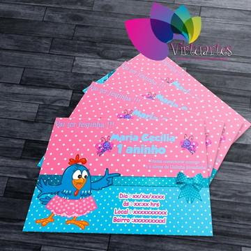 Convite Infantil Personalizado galinha pintadinha rosa