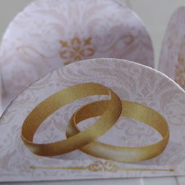 Forminha Alianças Noivado Casamento (50 forminhas)