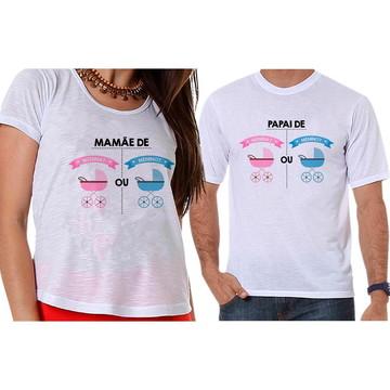 93dc4091e3 Bata e Camiseta Cha de Revelacao Menino Ou Menina Elefantes