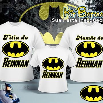Kit Camisas Familia Batman 3 Camisas