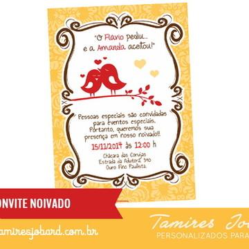 Convite Digital Noivado Love Birds