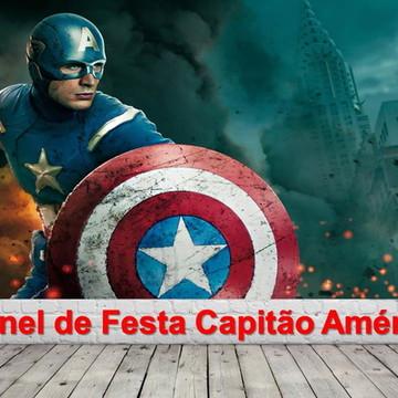 Painel de Festa Capitão América