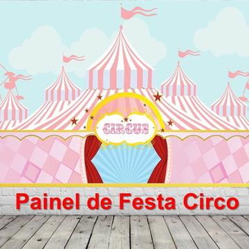 Painel de Festa Circo Rosa