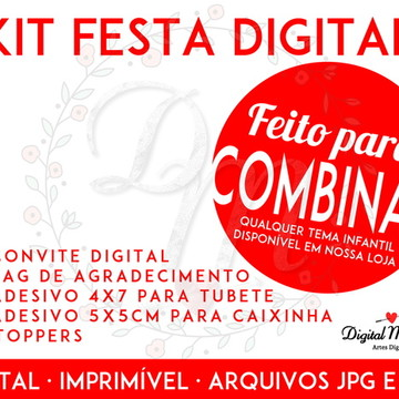 Kit Festa Digital - Para imprimir