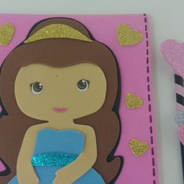 Caderno De Desenho Princesa