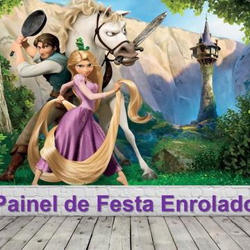 Painel de Festa Enrolados - Rapunzel