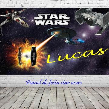 Painel de aniversario star wars