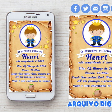 Convite Digital - Pequeno Príncipe