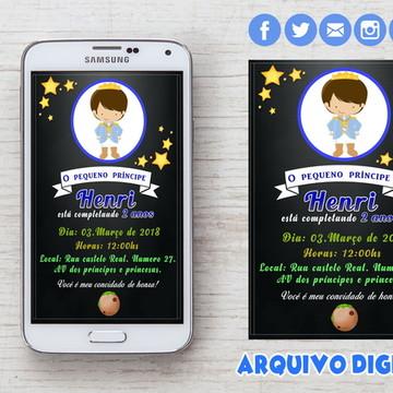 Convite Pequeno Príncipe Digital