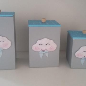 Potes de Kit Higiene Nuvens