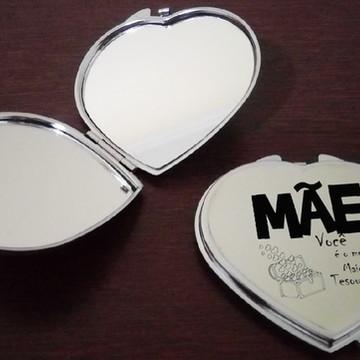 Espelho de Bolsa duplo em Metal - Personalizado