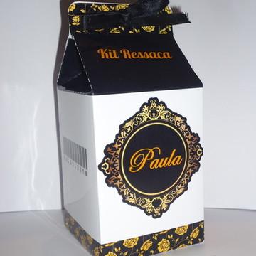 Caixa Milk Kit Ressaca Preto, Branco e Dourado