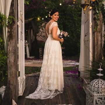 Vestido de noiva- boho chic modelo Carol