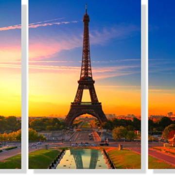 Quadros Decorativos Torre Eiffel para Sala 3 peças