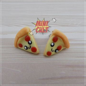 Par de brincos Pizza Kawaii