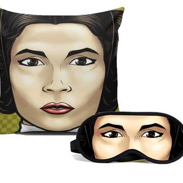 Capa de Almofada + Mascara para dormir Princesa Leia
