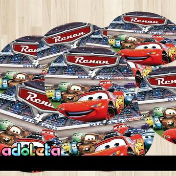 Adesivo Personalizado Redondo Festa Carros