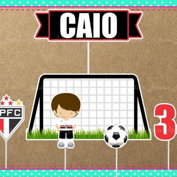 Topo de bolo Sao Paulo Futebol Clube