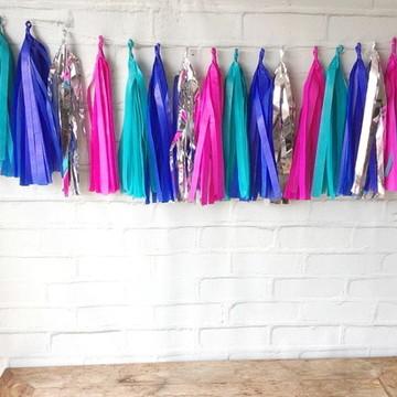 Tassel Garland Franjas COLORS Tiffany e Pink
