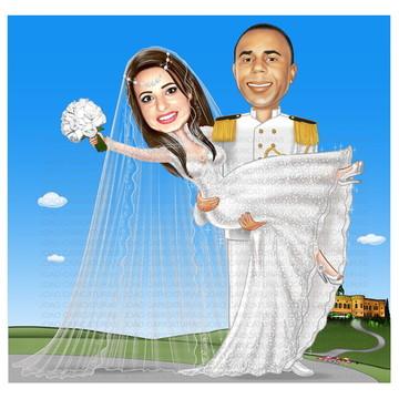 Caricatura Casamento N