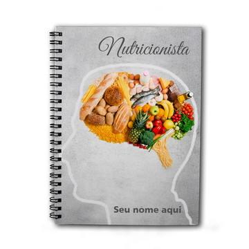 Caderno Personalizado 200fls Profissão Nutricionista