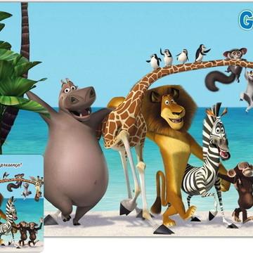 Jogo Americano Madagascar + BRINDE