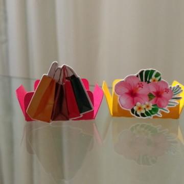 Forma para Docinhos - Shopping / Compras / Flores / Rosa